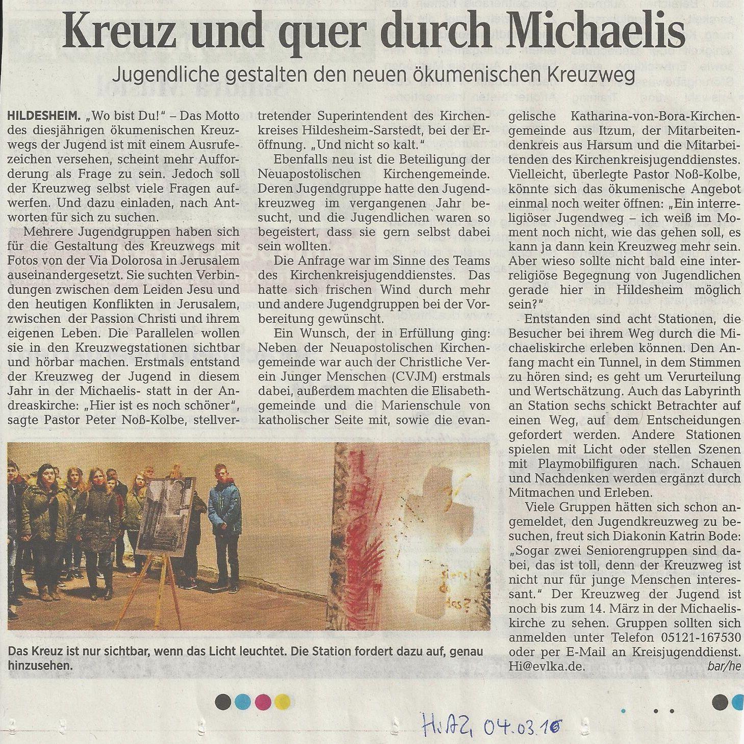 Download Artikel Hildesheimer Allgemeinen Zeitung 040316
